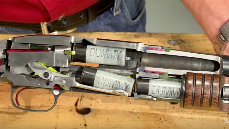Winchester Modelo 1912 y como funciona