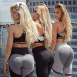 Sexy chicas  fitness en leggins