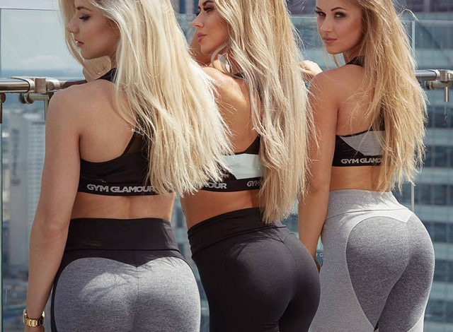 Sexy chicas  fitness en leggins